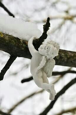 Winter angel hanging on ...