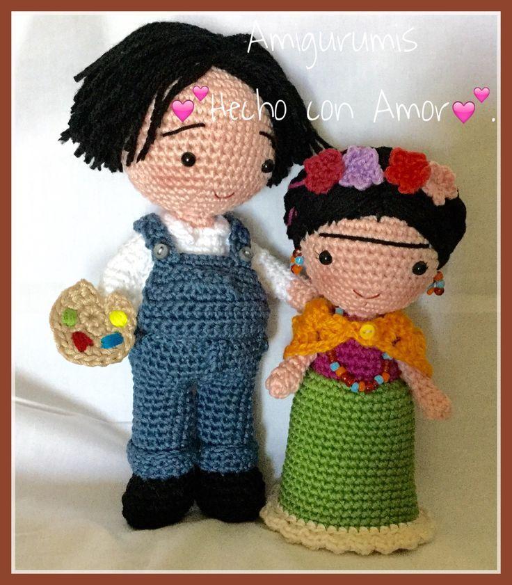 Resultado de imagen para muñeca frida tejida a crochet   Muñequitos ...