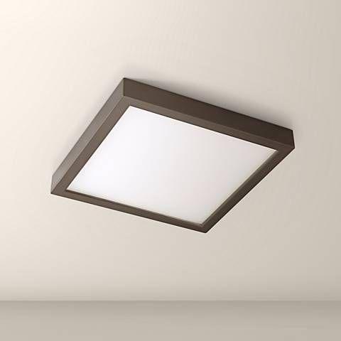 Disk 8 Wide Bronze Square Led Indoor Outdoor Ceiling Light