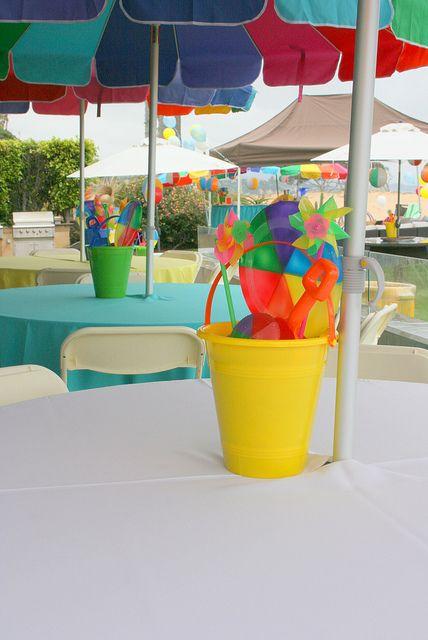Beach Party Centerpieces Beach Party Centerpieces Splash Party Beach Themed Party