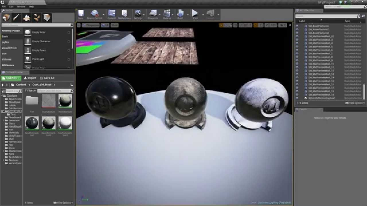Ue4 Advanced Materials Ep 20 Applying Simple Dust Dirt Frost To
