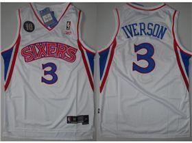 buy popular ecb94 9c67c Philadelphia 76ers #3 Allen Iverson 10th Anniversary ...