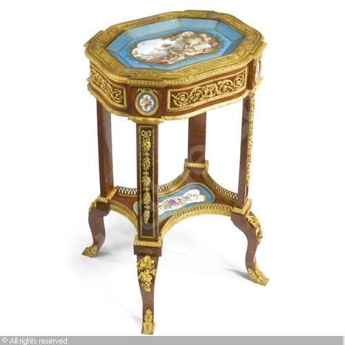 A VERY FINE TRANSITION-STYLE PETIT TABLE À ÉCRIRE sold by Sotheby's, New York, on Friday, April 15, 2011