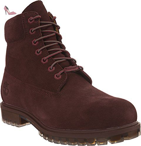 timberland rouge bordeaux homme