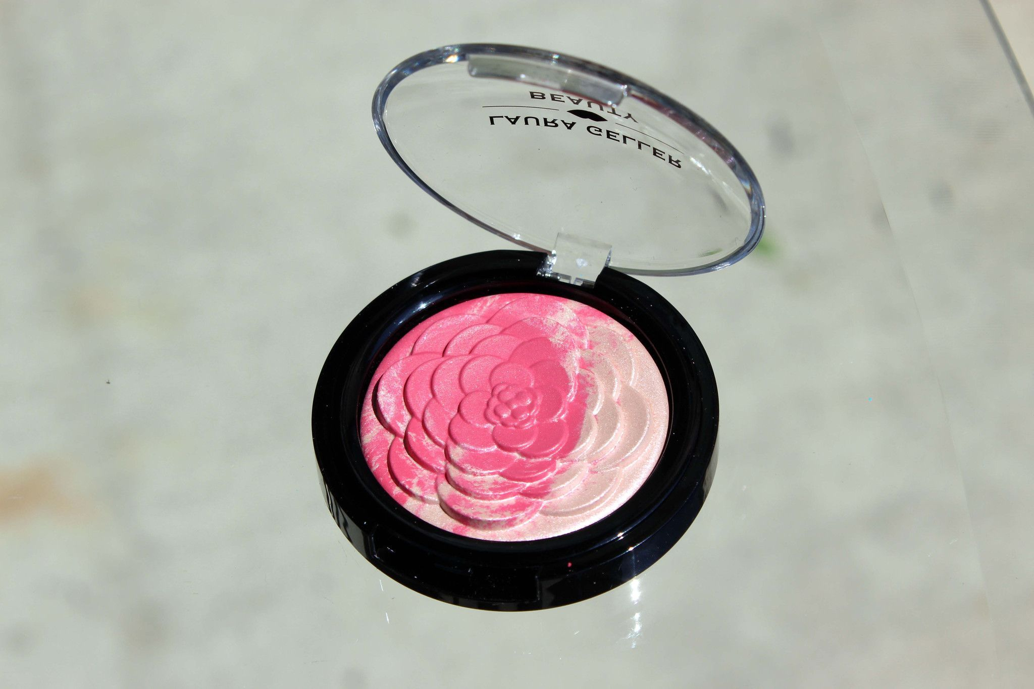 Laura Geller Baked Gelato Vivid Flower Blush Pink Dahlia