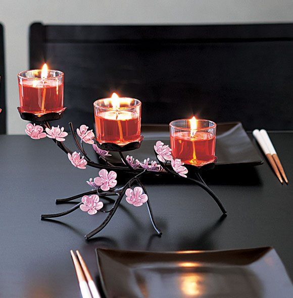 Cherry Blossom Centerpiece #PartyLite #candles