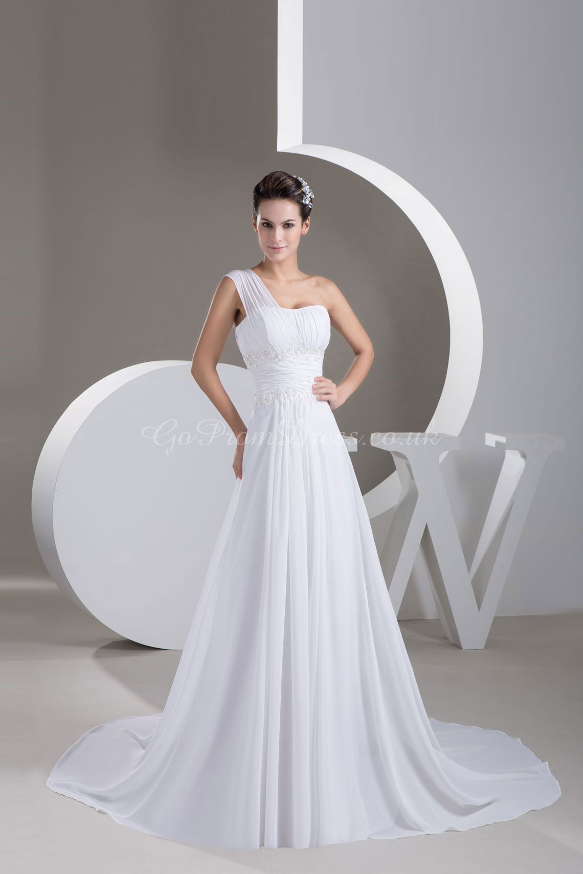 Wedding Dress With One Sided Strap