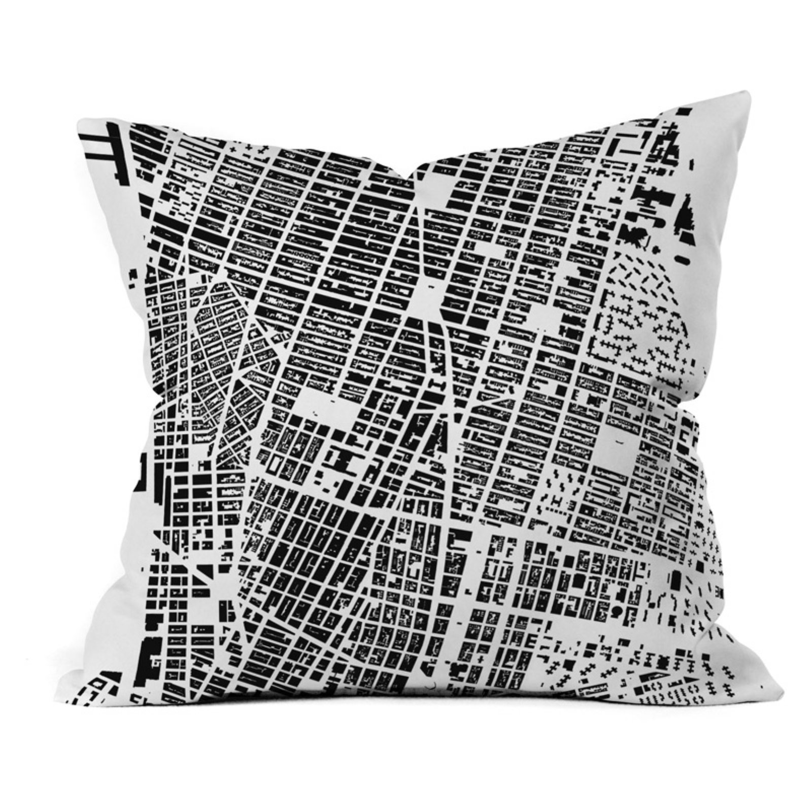 Deny Designs City Fabric Inc Nyc White Outdoor Throw Pillow In 2019