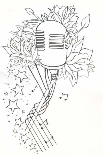 Line Drawing Name Designs : Mic tattoo flash line drawing by spookyzombie viantart