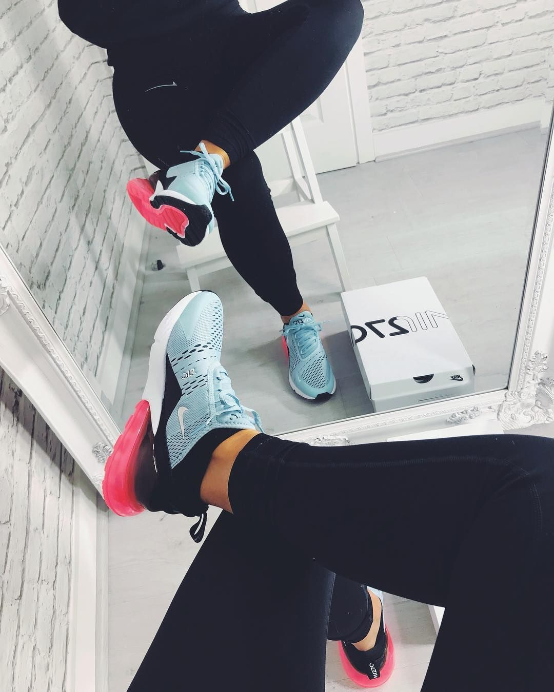 Nike Air Max 270 – Ocean Bliss   Black   Hot Punch  6ae358607a