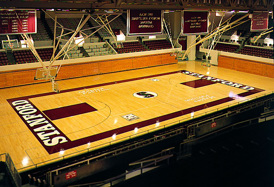 Maples Pavilion Is Home To Both The Men S And Women S Basketball And Volleyball Teams At Stanford Universit Stanford Basketball Volleyball Team Ncaa Tournament