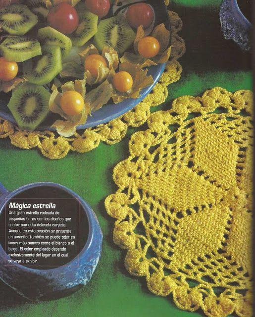 Patrón #1197: Carpeta a Crochet http://blgs.co/sWIjoS | crochet y ...