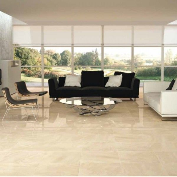 Cream Gloss Floor Tiles Trade Price Kitchen Flooring Options In 2020 Living Room Tiles Tile Floor Living Room Tile Floor