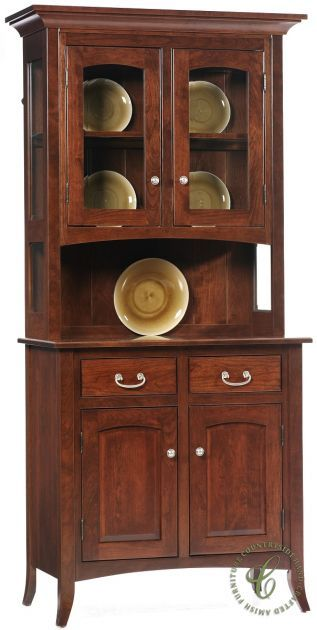 South Hooksett Small China Cabinet Countryside Amish Furniture China Cabinet Small China Cabinet China Cabinet Display