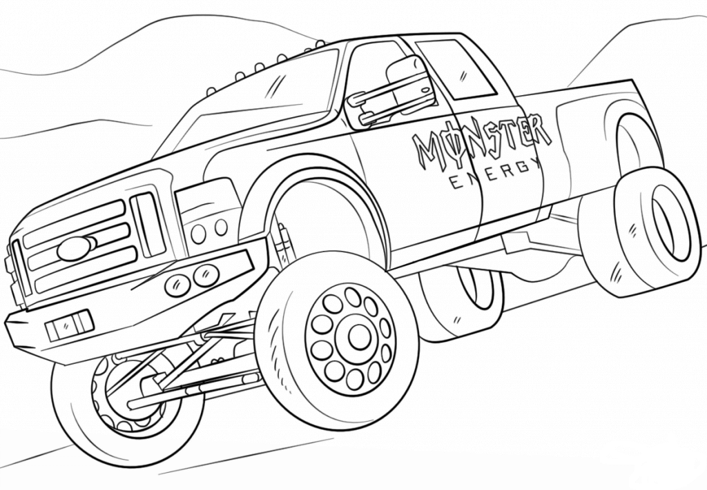 Free Monster Jam Coloring Pages Monster Energy Monster Truck Monster Truck Coloring Pages Truck Coloring Pages Coloring Pages