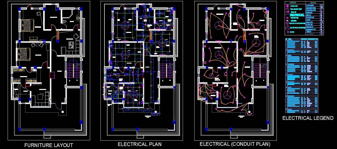 2 Bhk House Design Shows Furniture Layout Ceiling Electrical Conduit