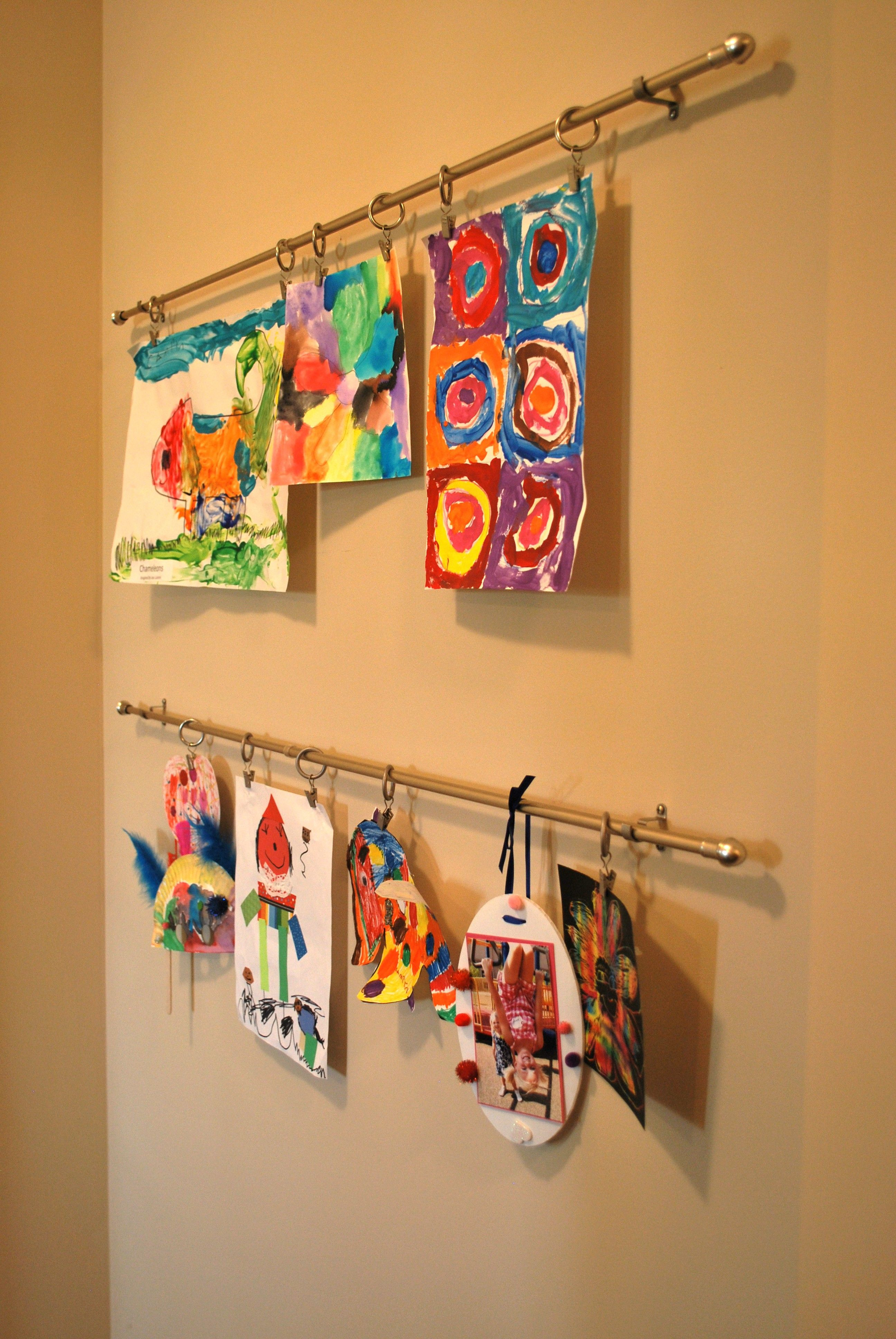 Art Display Simple Cafe Rods With Clip Rings Great