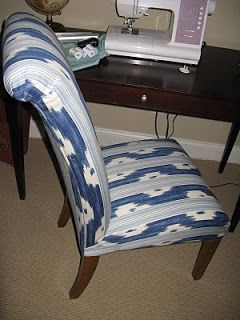 Matters of Style: DIY Upholstery: Ikat Slipper Chair