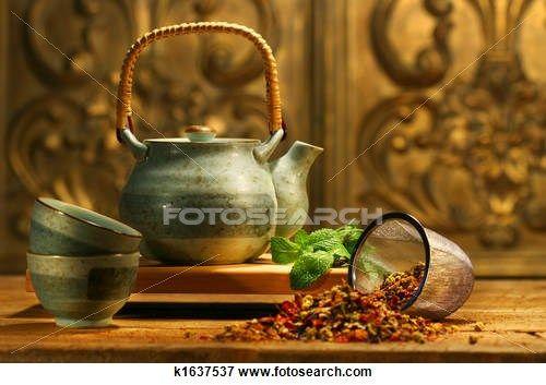 Foto - asiático, chá erva k1637537 - Busca de Imagens Fotográficas, Impressões, e Fotos Clipart - k1637537.JPG