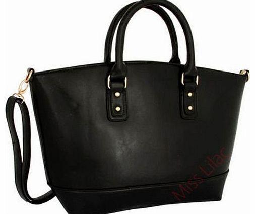 Miss Lilac X1253 Womens Las Celebrity Designer Leather Tote Bag Shoulder Fashion Handbag Uk