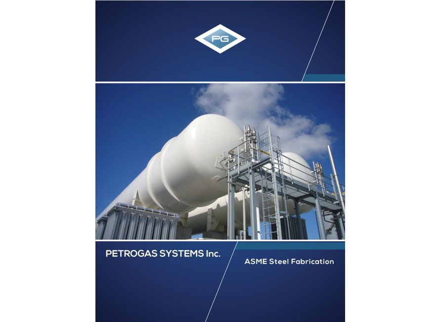 industrial brochure design petrogas systems 2 cover page