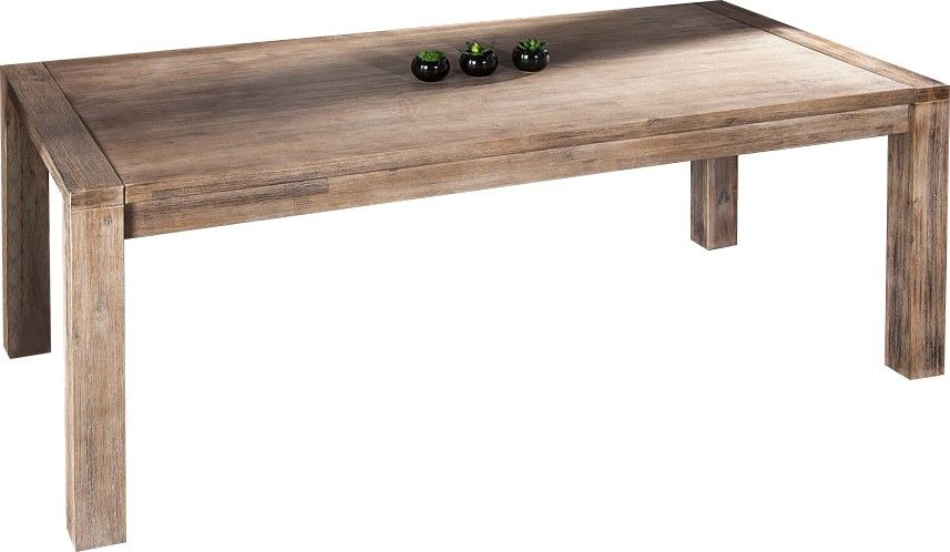 table manger blanc c ruse extensible de 230 cm en bois. Black Bedroom Furniture Sets. Home Design Ideas