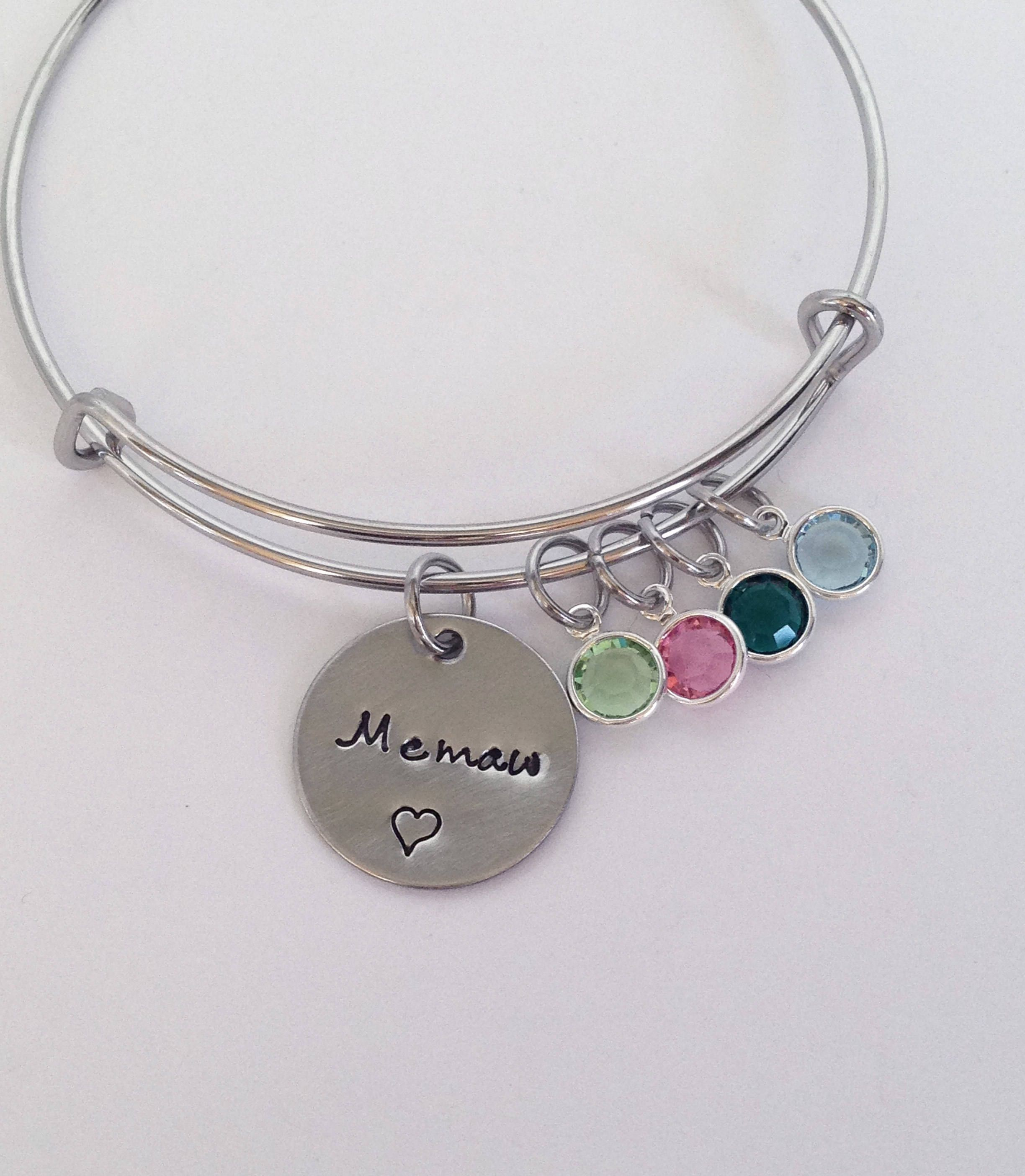 """/""""Memaw/"""" Pink Heart Charm Necklace Grandmother Grandma Mothers Day Christmas Gift"""