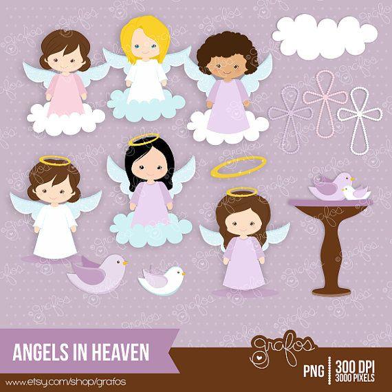 Angel heaven. Angels in digital clipart