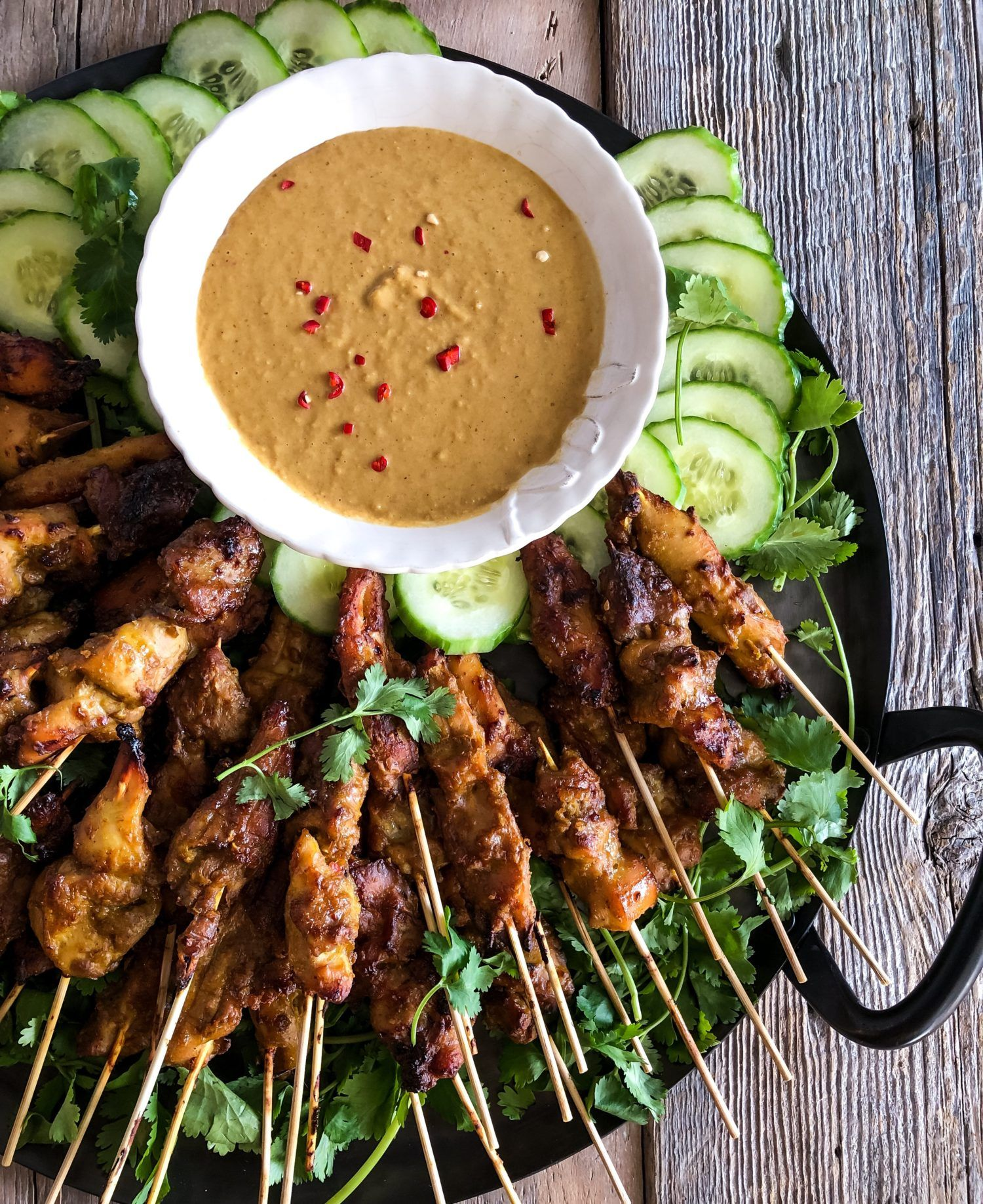 Chicken and Pineapple Satay, Peanut Sauce   The Lemon Apron ...