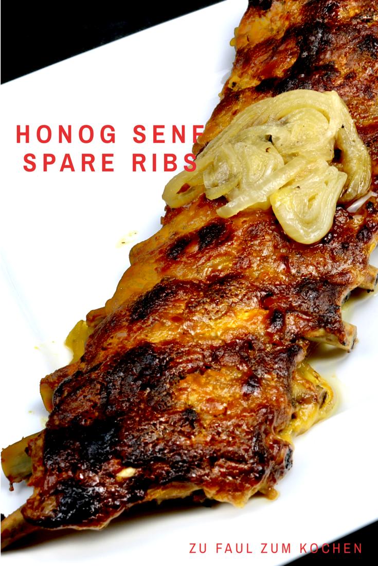 Photo of Honningssennep spareribs med løk – for lat til å lage mat