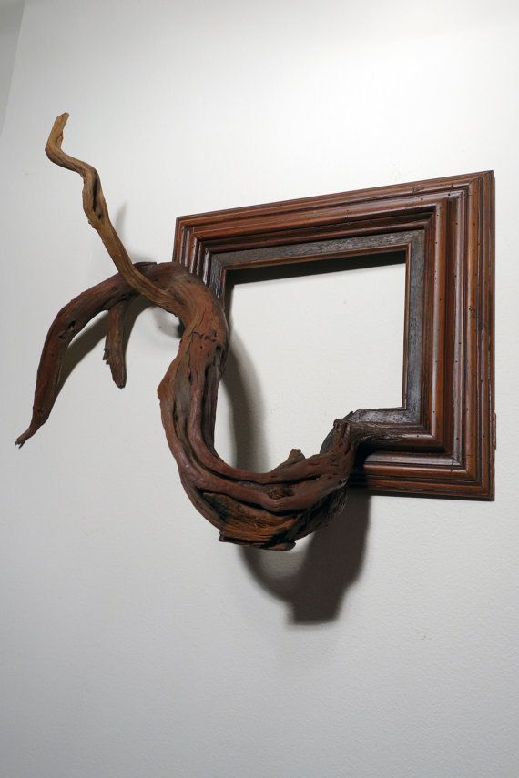Turner Vintage Wood Frame With Grafted Manzanita Branch Wood Picture Frames Tree Branch Art Wood