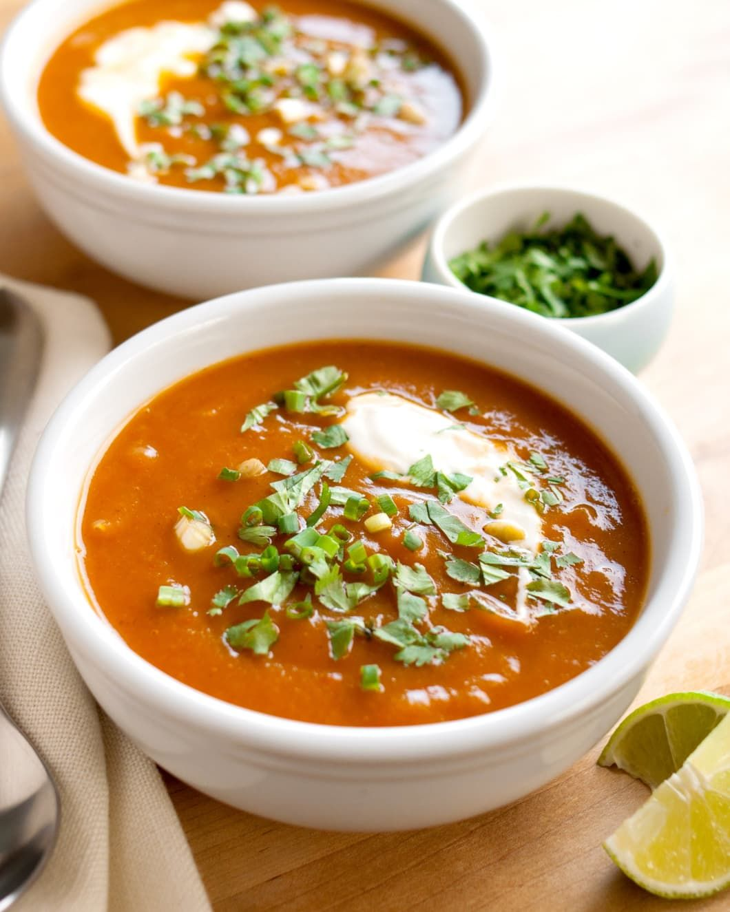 Southwestern Butternut Squash Soup #butternutsquashsoup