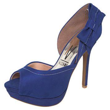 Peep Toe Laço Azul R$109.90