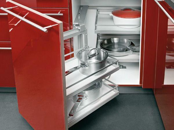 Cuisine Les placards et tiroirs Décoration Pinterest Le - amenagement placard d angle cuisine