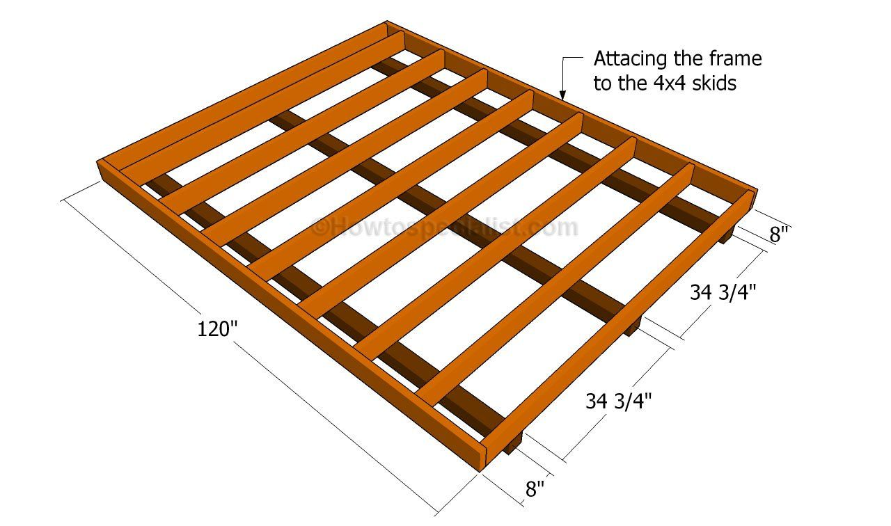 How To Build A Shed Floor Howtospecialist How To Build Step By Step Diy Plans Shed Floor Building A Shed Shed