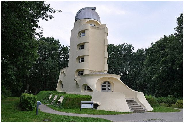 Einstein Tower Potsdam.Designed by Eric Mendelson. Built 1919-1924. A centre of astronomical research now part of Potsdam Science Park.