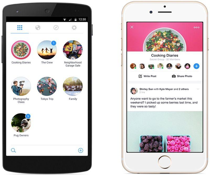 Groups Facebook Anunta Lansarea Unei Noi Aplicatii Pentru Iphone Si Ipad Idevice Ro Facebook Group App Social Media