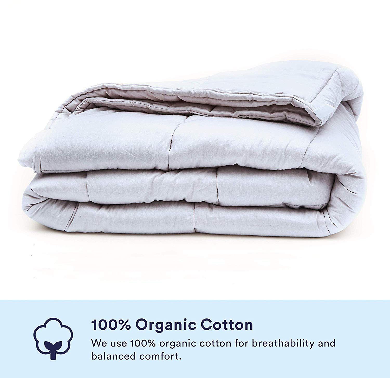 Amazon Com Luna Weighted Blanket 15 Lbs 60x80 100 Organic