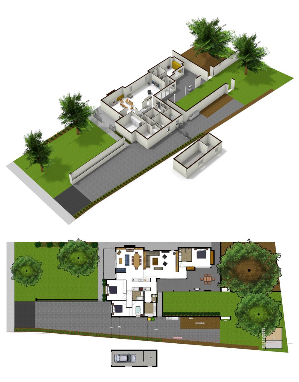 Home and garden design made in floorplanner | Cool floorplans ...
