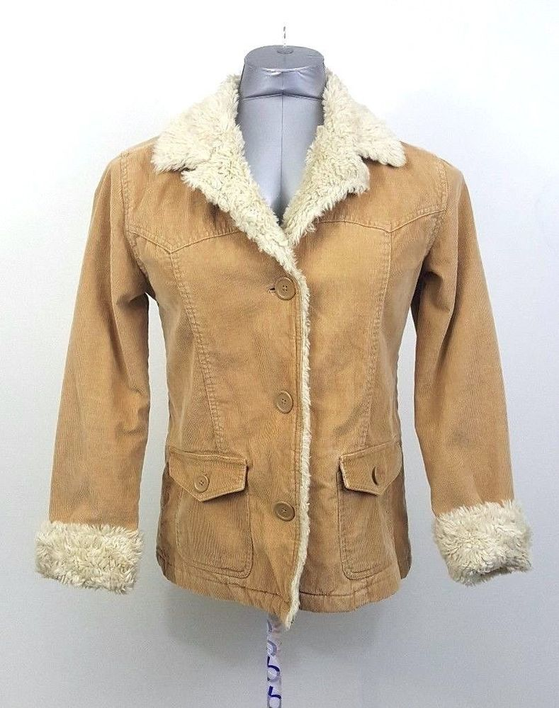 0870f36c5bc Aeropostale Medium Corduroy Tan Coat Quilted Faux Fur Liner Jacket   Aropostale  FleeceJacket  Casual