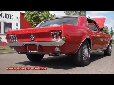 Ford Mustang 1967 Rot V8 289 V8 Sound Youtube Ford Mustang 1967 Mustang Pony Car