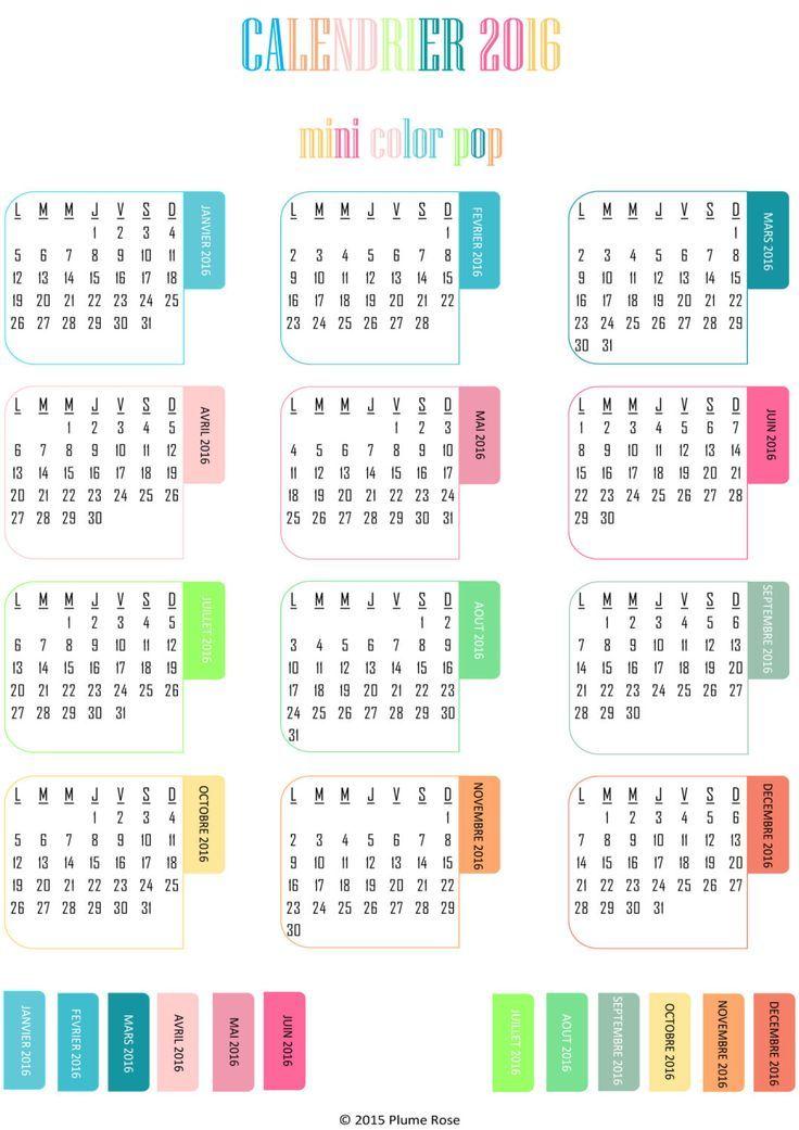 gratuit 2016, Agenda 2016 à imprimer and Imprimer calendrier 2015 - echeancier construction maison individuelle