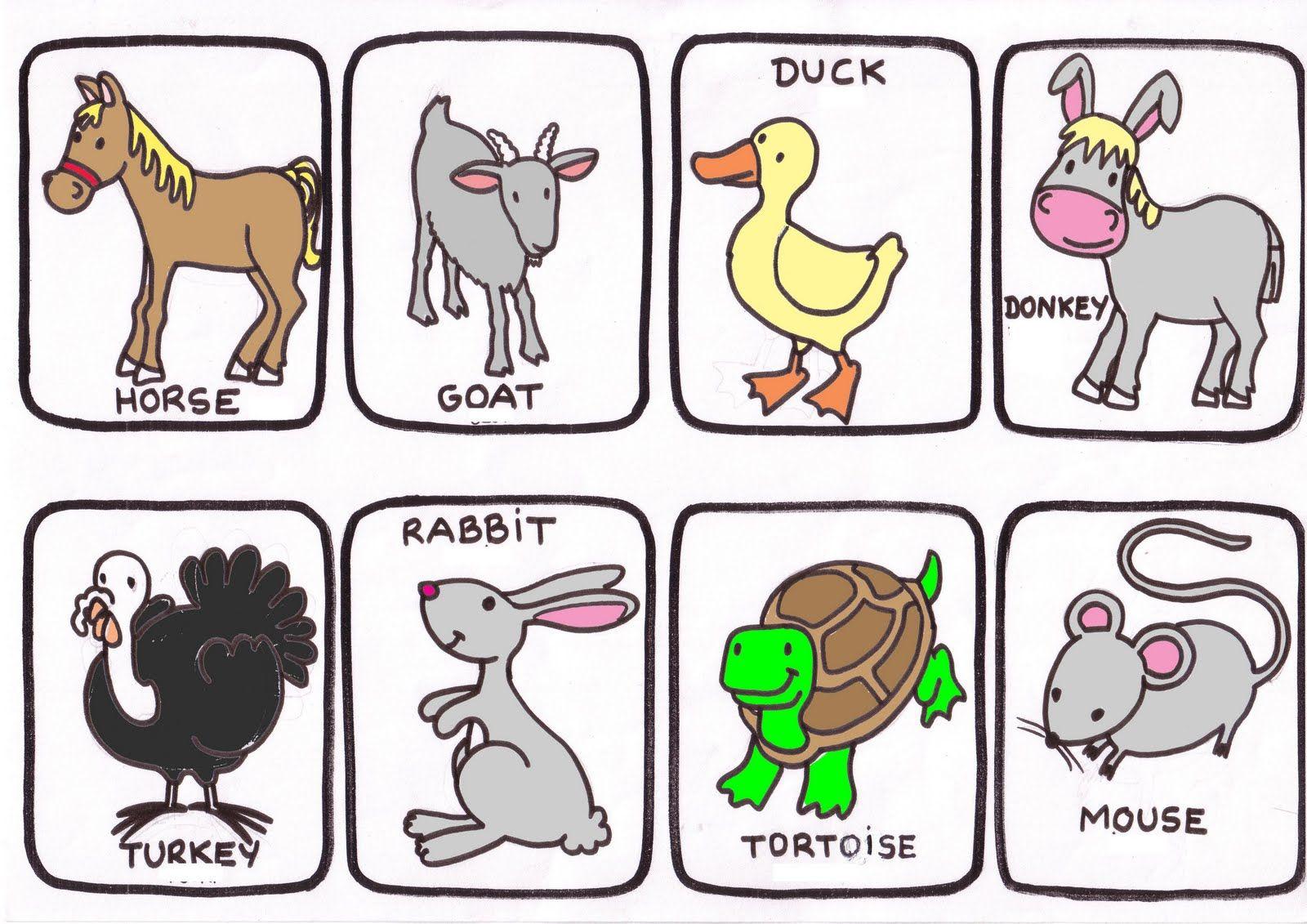 Manualidades Animales De La Granja Buscar Con Google Animales En Ingles Granja En Ingles Loteria De Animales