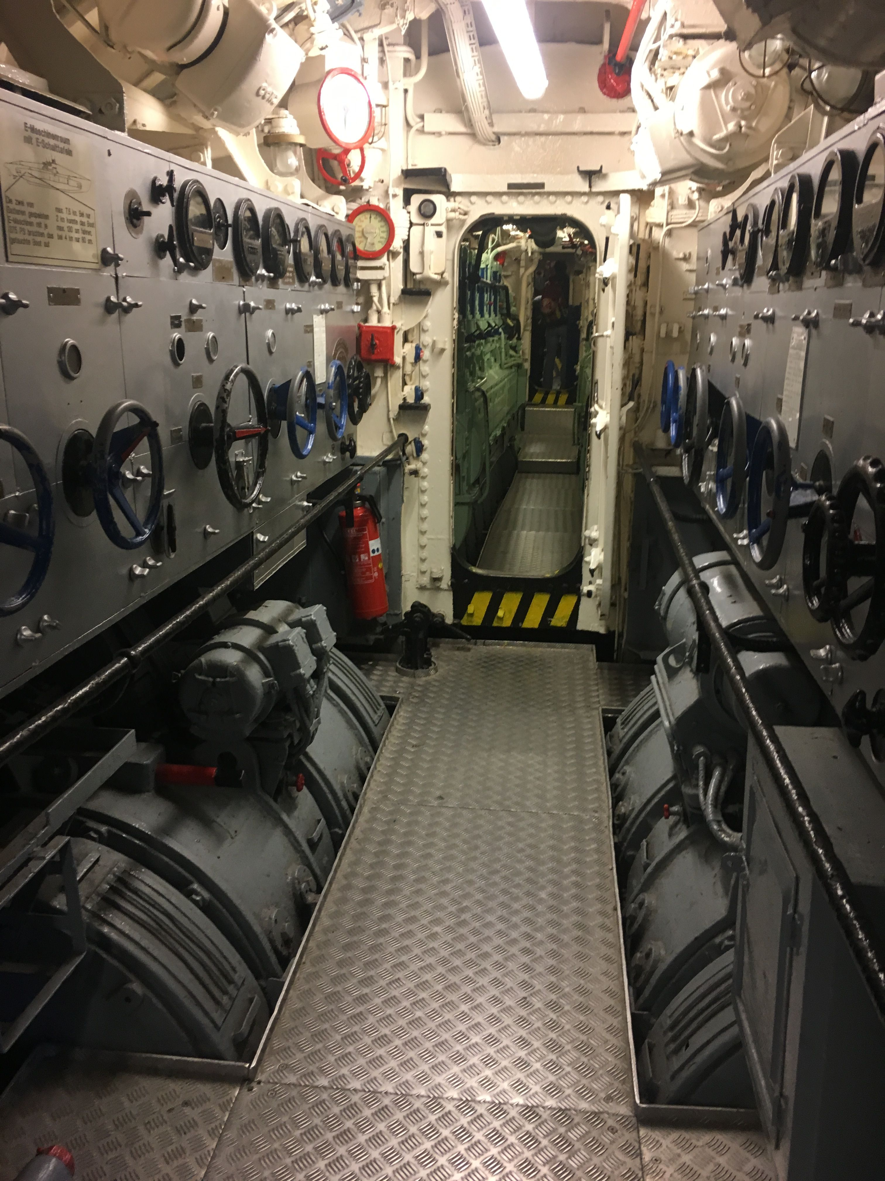 Boat Engine Room: Engine Room View Below Deck On A Submarine.