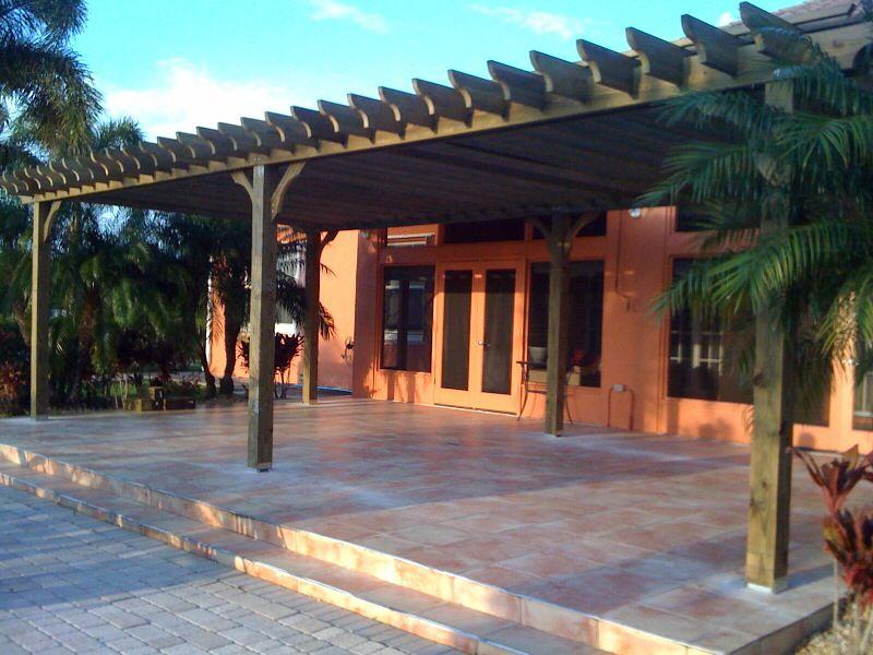 South Florida Pergola Porch