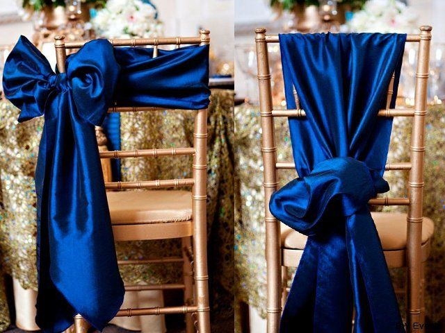 Gorgeous placement and colour combo - gold and royal blue