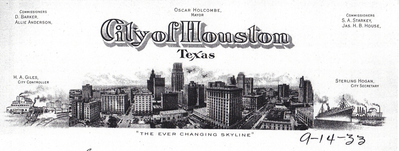 Houston Texas Holcombe City Hometown