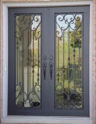 wrought iron french security doors for