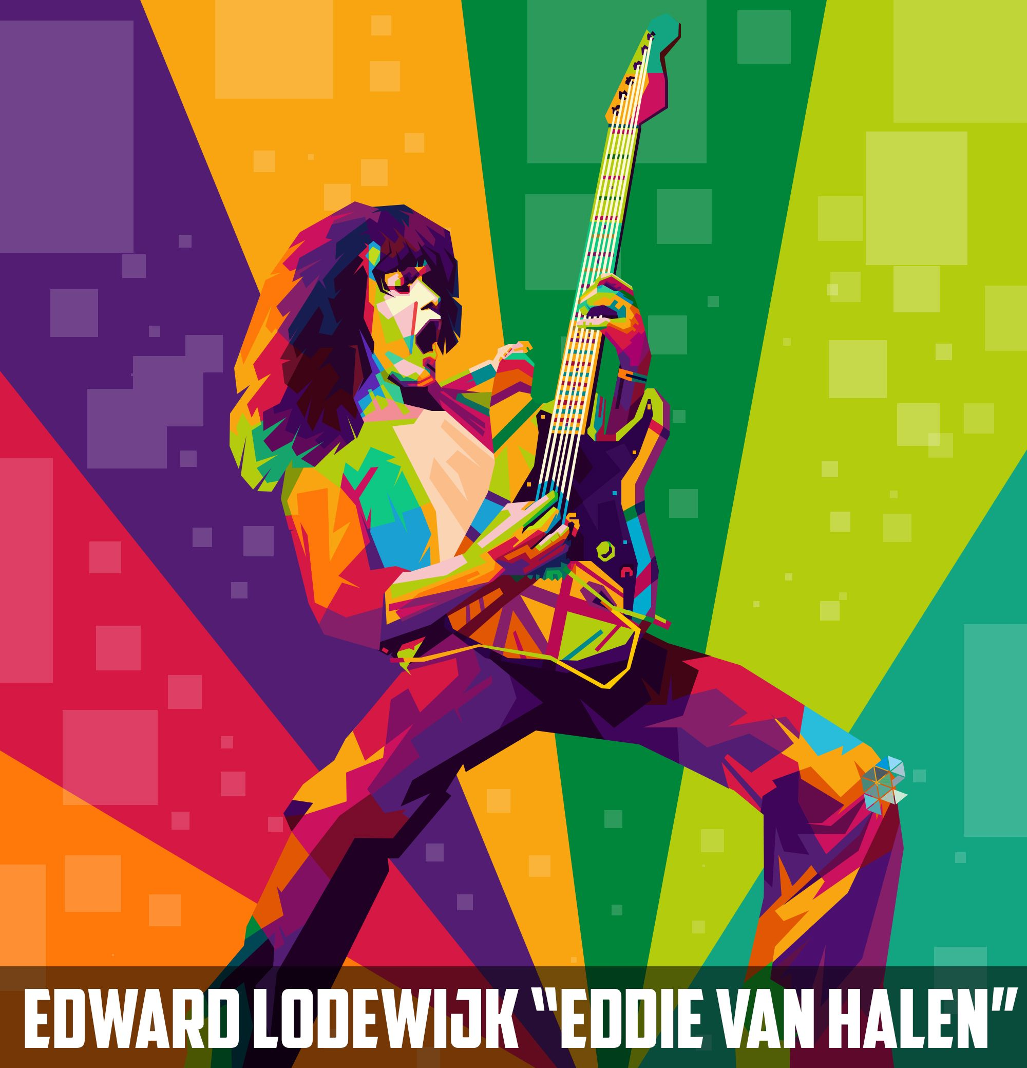 Eddie Van Halen Colorful Pop Art