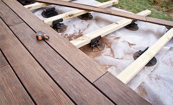 plot terrasse lambourdes m2 Idées jardin Pinterest Construction - terrasse bois sur plots reglables